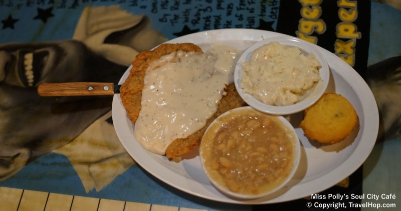 Miss Polly's Soul City Cafe - Memphis, Tennessee - Country Fried Steak