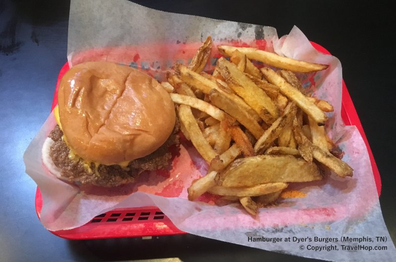 Dyers Burgers - Hamburger and Fries Deep Fried in 100-Year-Old Grease - Beale Street - Memphis, Tennessee